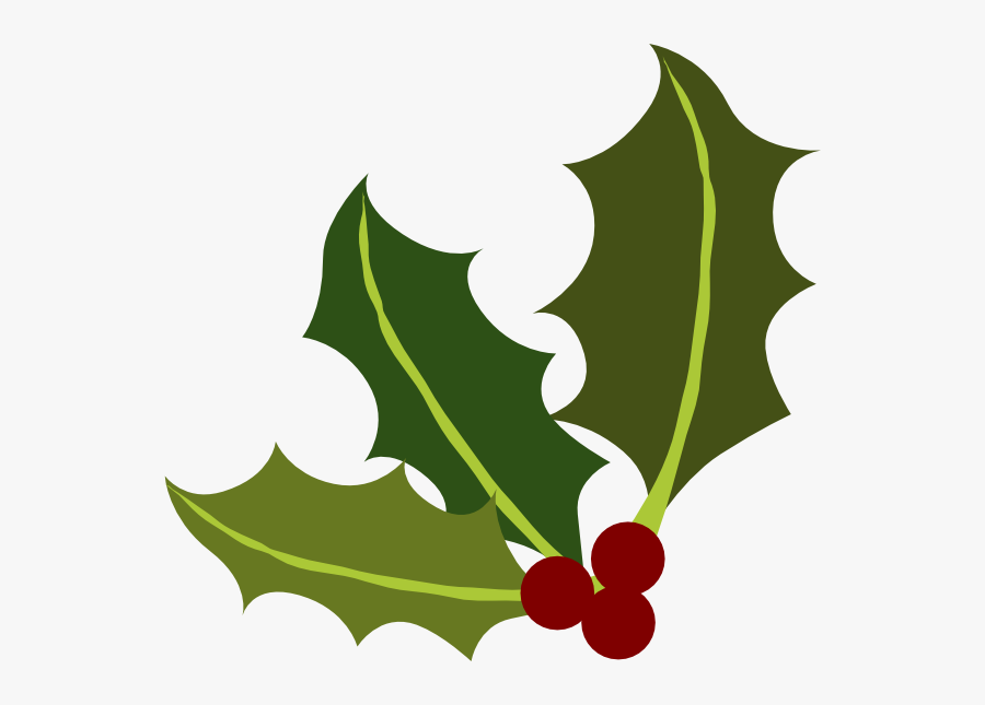 Holly Leaf Clipart, Transparent Clipart
