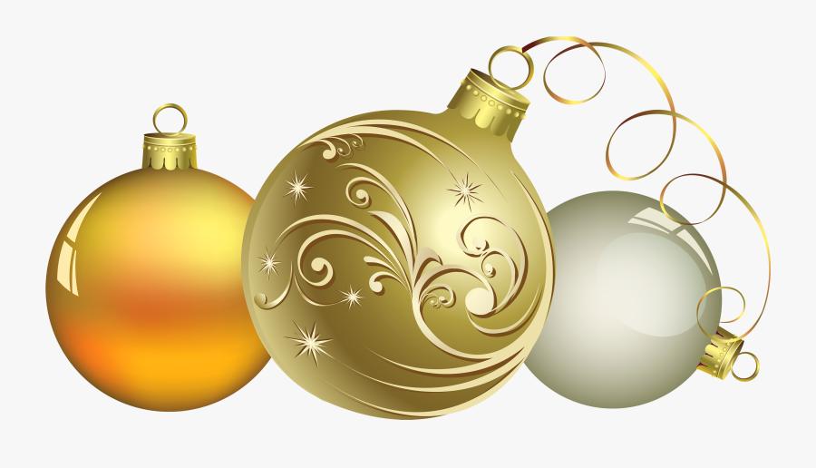 Christmas Ball Decor Png Clipart - Gold Christmas Design Backgrounds, Transparent Clipart