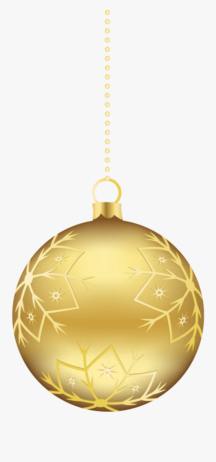 Large Transparent Gold Christmas Ball Ornament Png - Gold Christmas Balls Clipart, Transparent Clipart