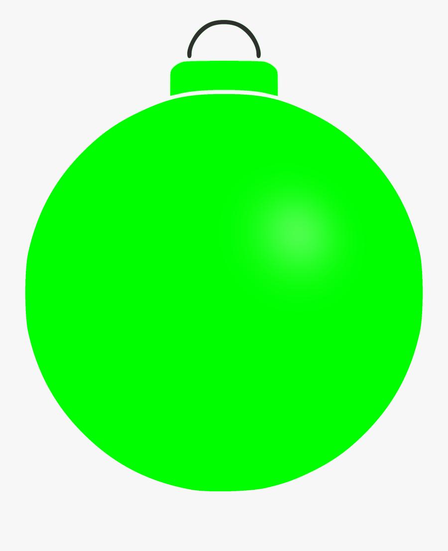 Plain Christmas Bauble Clip Art - All Green Bauble Clipart, Transparent Clipart
