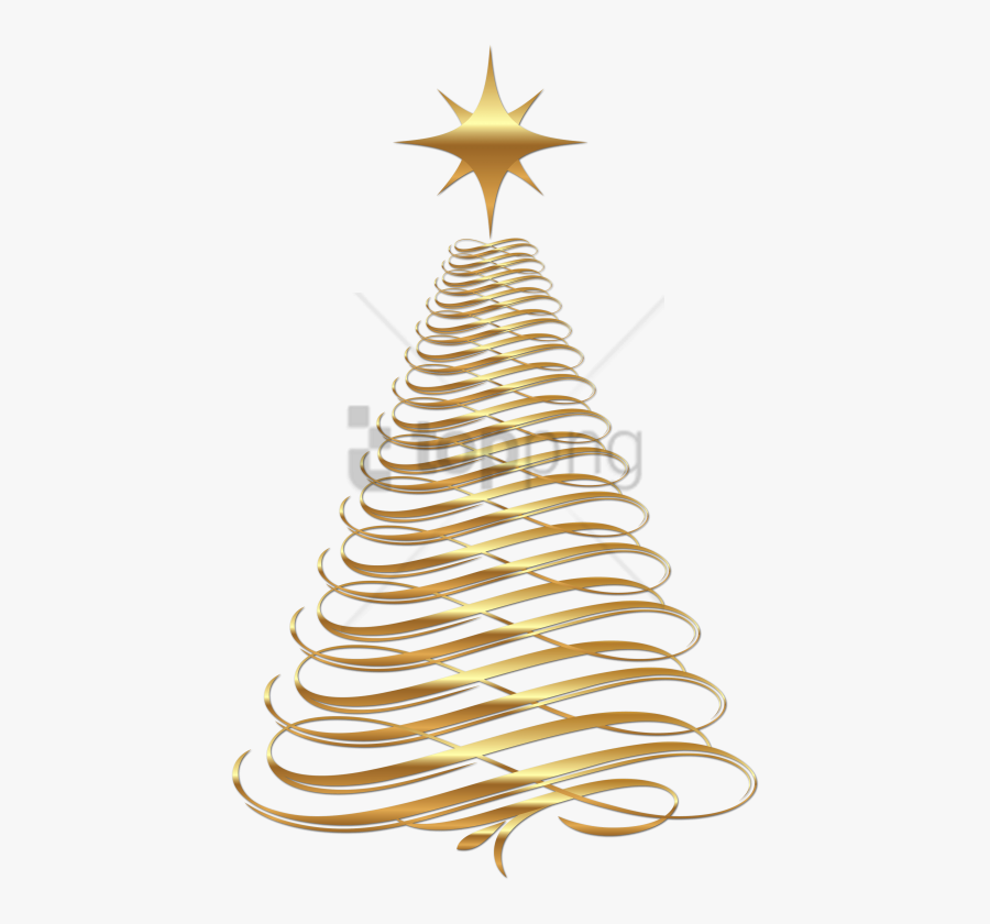 Christmas Decorations Clipart Gold - Gold Christmas Tree Clip Art, Transparent Clipart