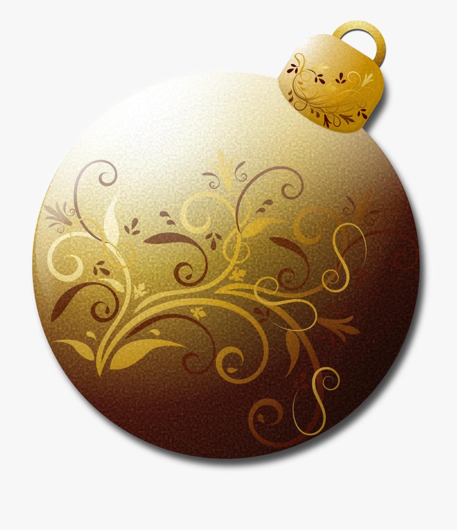 Gold Christmas Ornament Clipart - Christmas Ornaments Cartoon Gold, Transparent Clipart