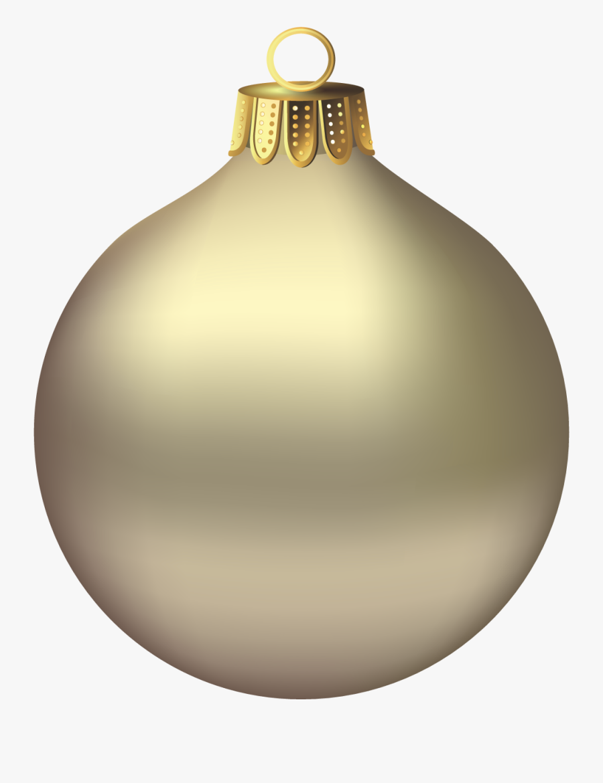 Ornaments Clipart - Gold Christmas Ornament Transparent Background, Transparent Clipart