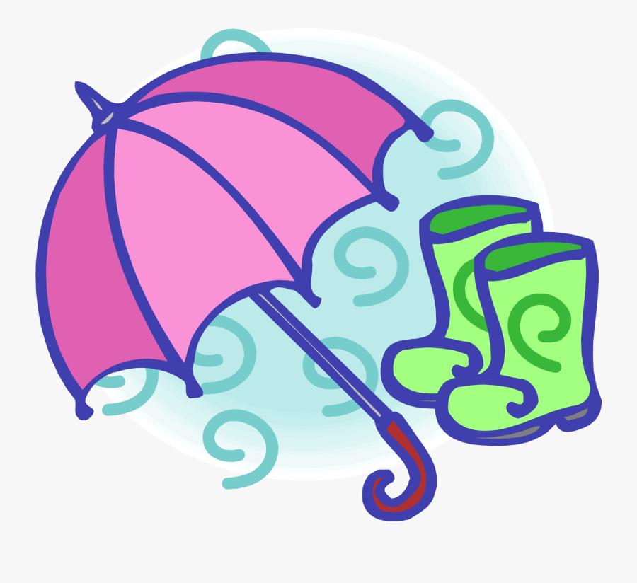 Wellington Boot Umbrella Clip Art - Umbrella And Rain Boots Clip Art, Transparent Clipart