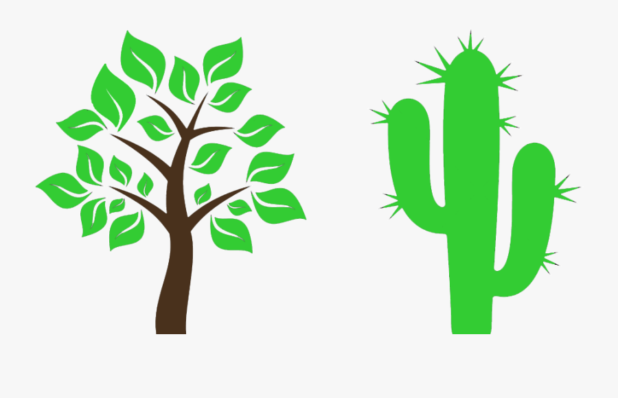 Clipart Tree Cactus - Tree With Leaves Clipart, Transparent Clipart