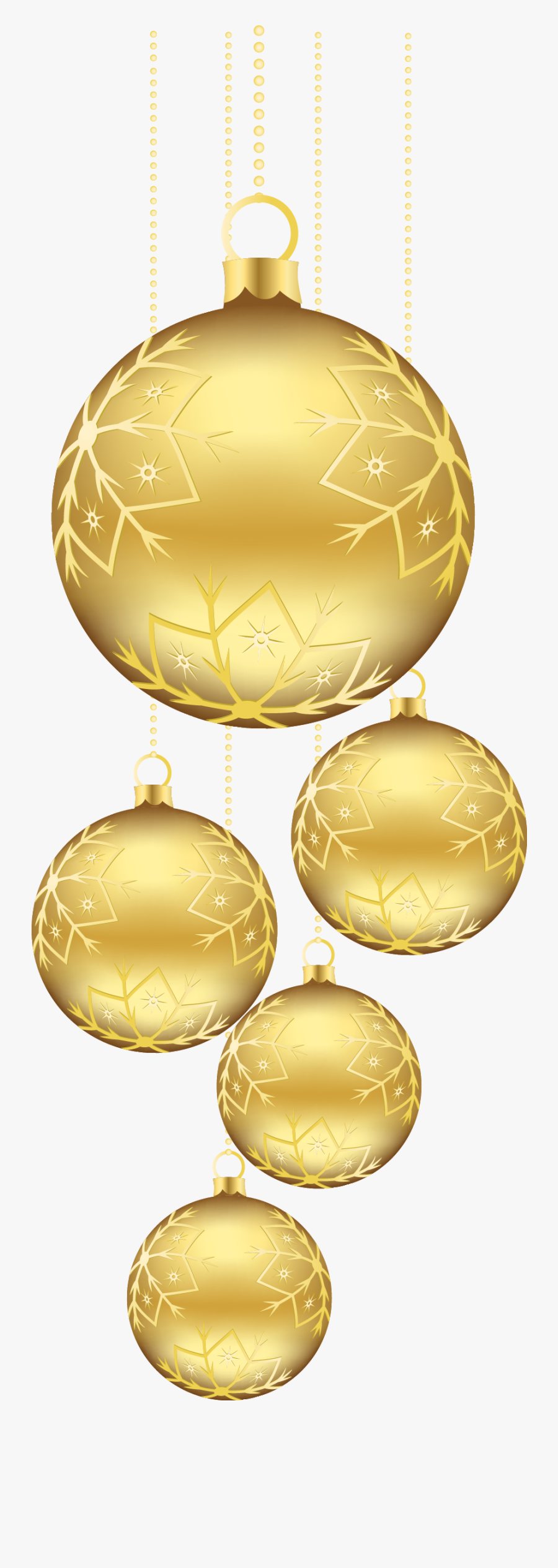 Pin By France Rivard On Image - Gold Christmas Decorations Png, Transparent Clipart