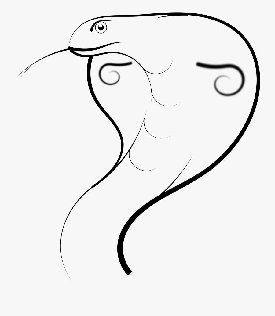 Clip Art Black And White Stock Clipart Cobra - Cobra Pencil Snake Drawing, Transparent Clipart