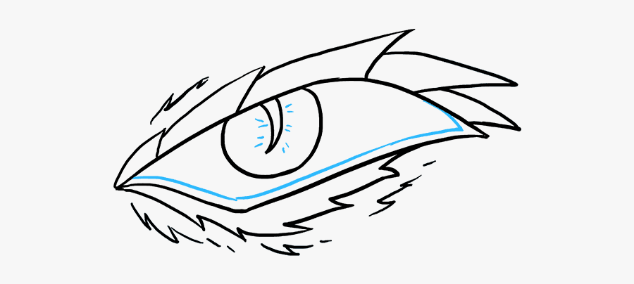 How To Draw A Dragon Eye - Easy To Draw Dragon Eye, Transparent Clipart