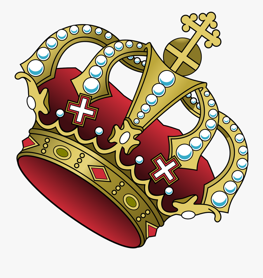 Transparent Crown Cartoon Png - King Crown Tilted, Transparent Clipart