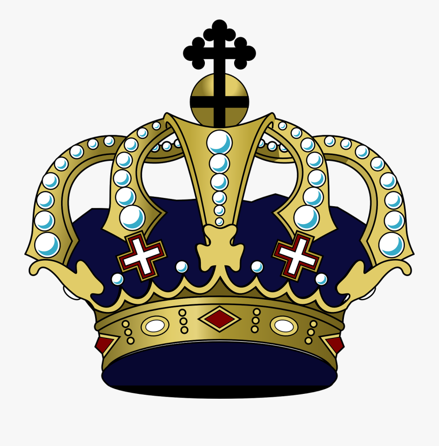 Crown Victorian Black And - Purple And Gold Crown Png, Transparent Clipart