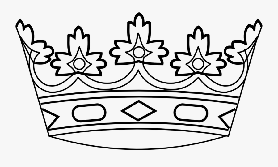 King, Crown, Royalty, Royal, Queen, Kingdom, Prince - Crown Black And White Clip Art, Transparent Clipart
