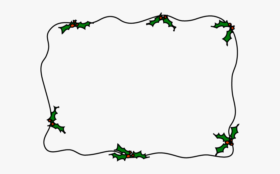 Christmas Border Flowers Borders Clipart X Transparent - Holly Clipart  Border , Free Transparent Clipart - ClipartKey