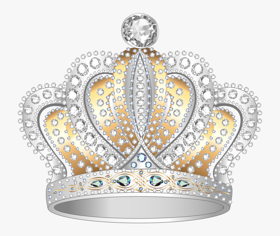 Queen Crown Png High-quality Image - Silver And Gold Crown, Transparent Clipart