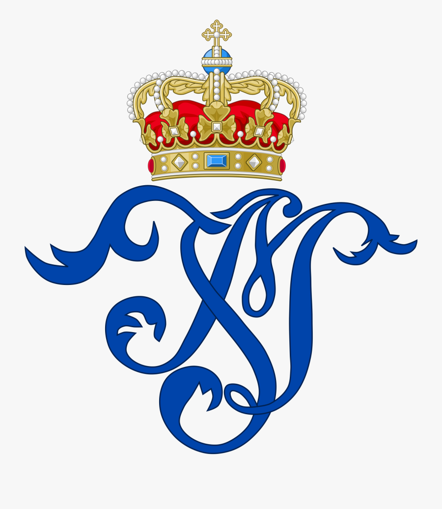 Queen Juliane Marie Of Denmark - Royal Monogram, Transparent Clipart