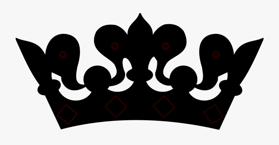 Crown Clipart Black And White No Background - Queen Crown Clipart Black And White, Transparent Clipart