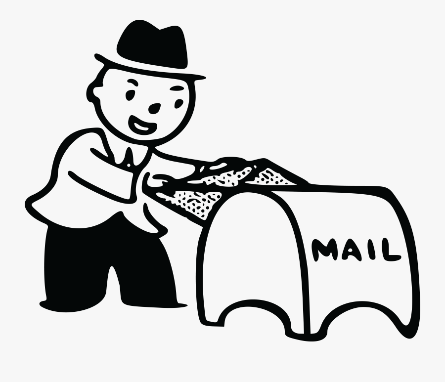 Free Clipart Of A Man Putting Mail In A Drop Box - Mailing A Letter Clipart, Transparent Clipart