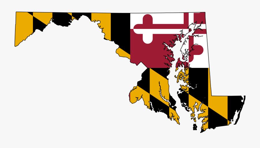 Maryland Flag State Shape, Transparent Clipart