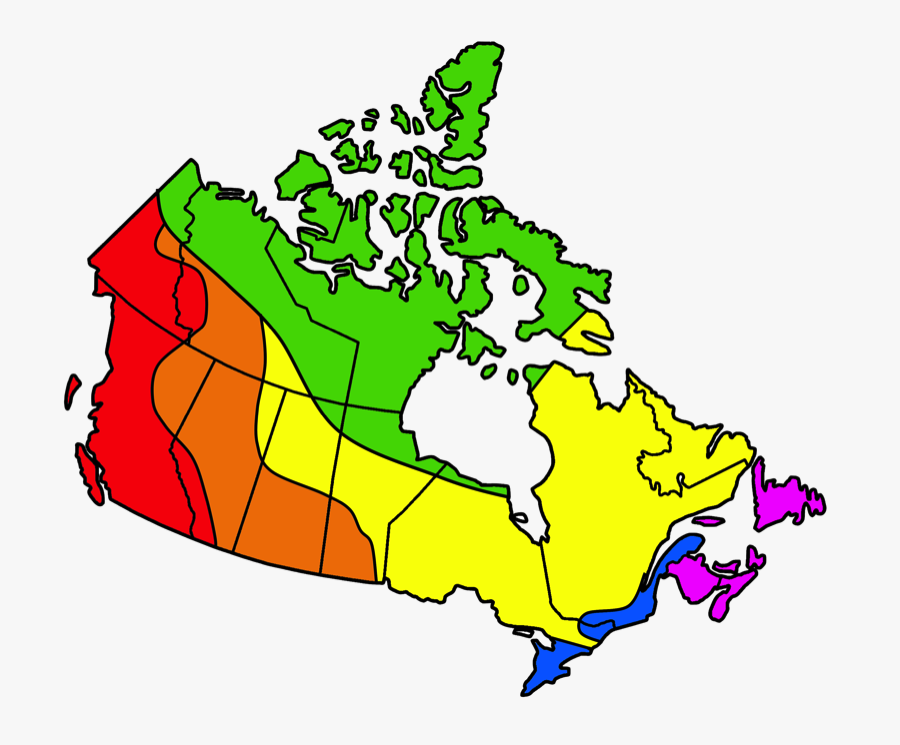Canada Map In French, Transparent Clipart