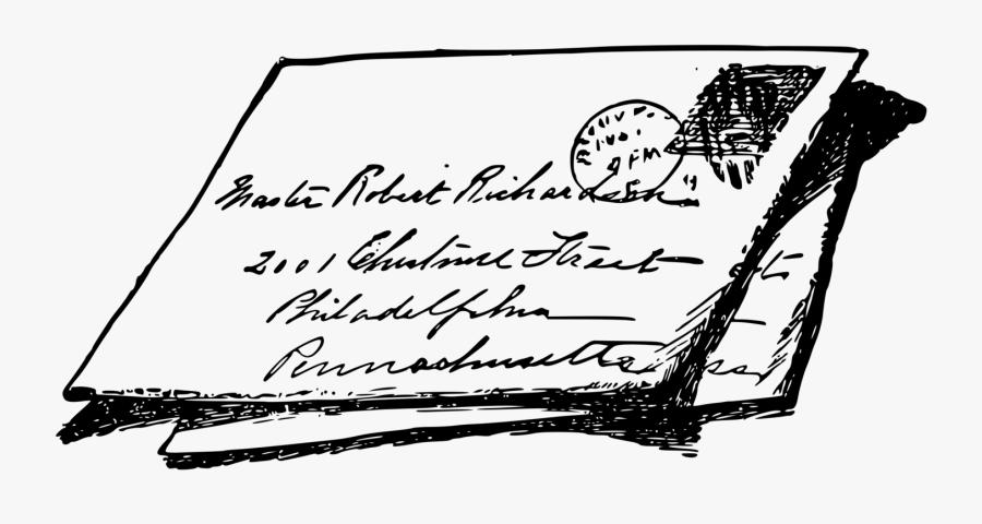 Transparent Mail Clipart Black And White - Letter Writing Clip Art, Transparent Clipart