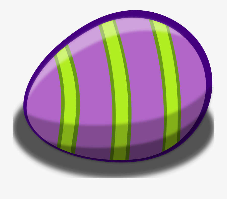 Striped Easter Vector Image - Green And Purple Easter Egg, Transparent Clipart