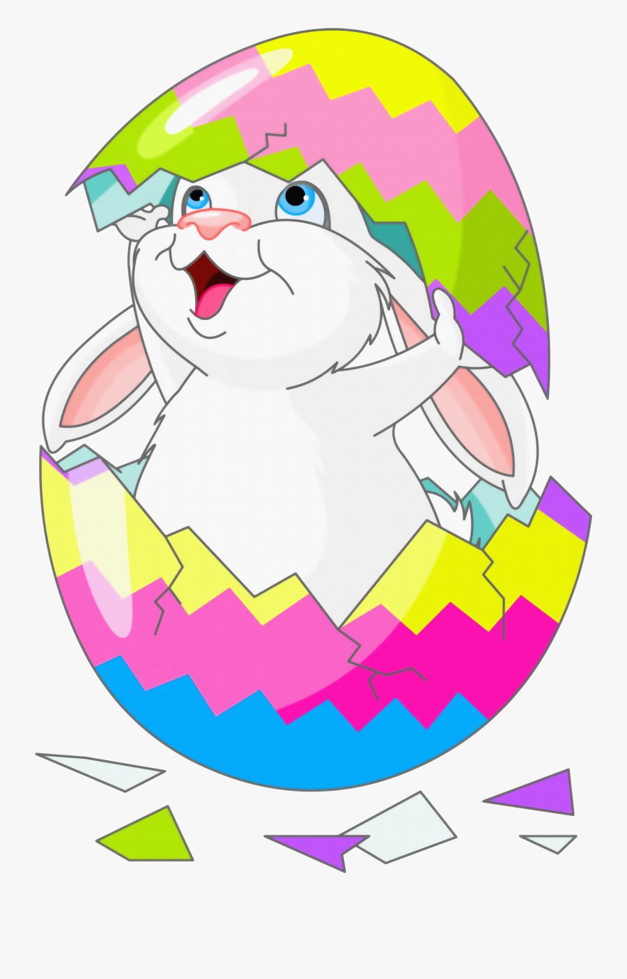 With Egg Easter Bunny Picture Free Hq Image Clipart - Easter Bunny In Egg, Transparent Clipart