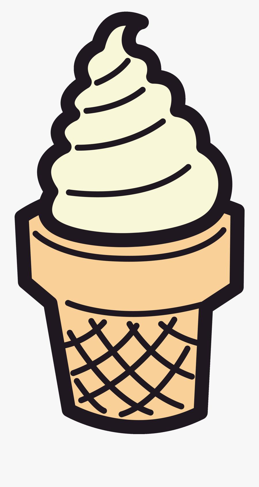 Ice Cream Cone Clipart Sundae Clipart Cartoon Pencil - Small Medium Large Circles, Transparent Clipart