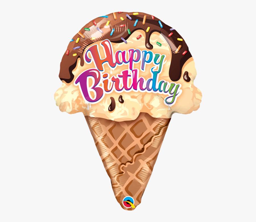 Transparent Ice Cream Clipart Png - Happy Birthday Ice Cream Cone, Transparent Clipart
