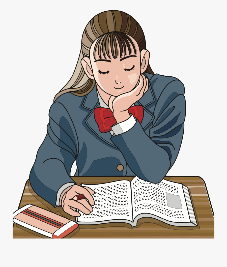 Human - Clipart Images Of Studying, Transparent Clipart