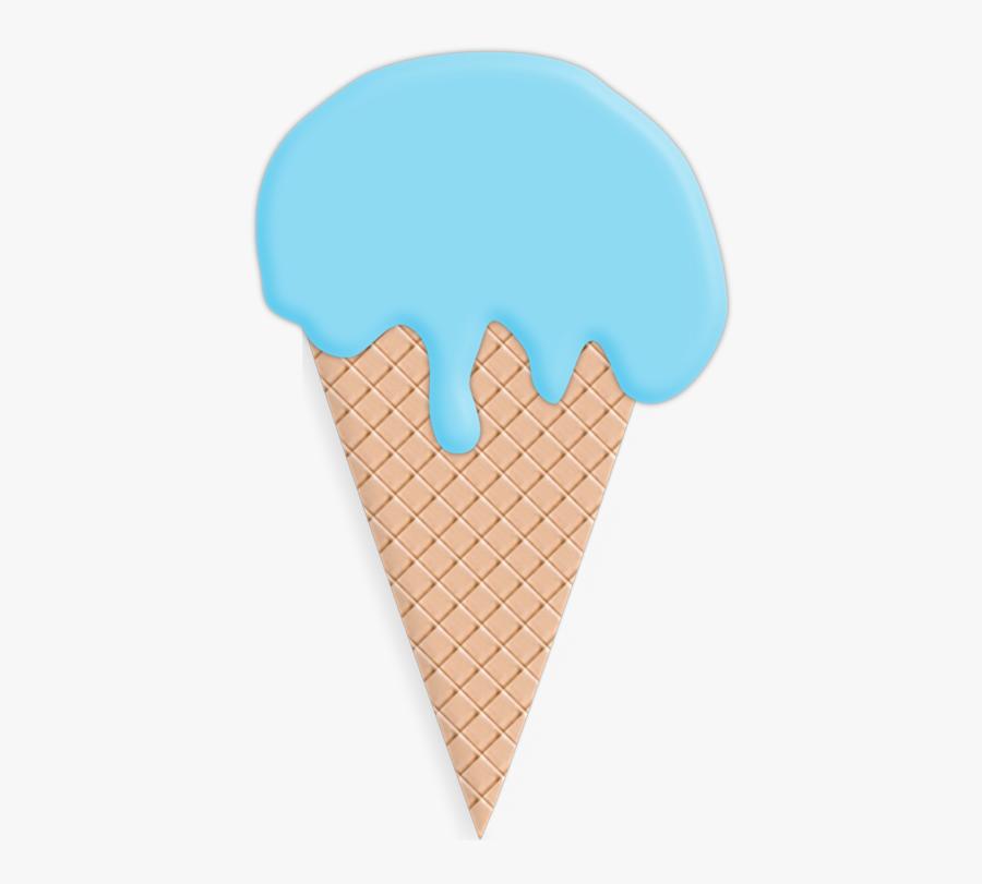 Blue Ice Cream Cone Clip Art, Transparent Clipart