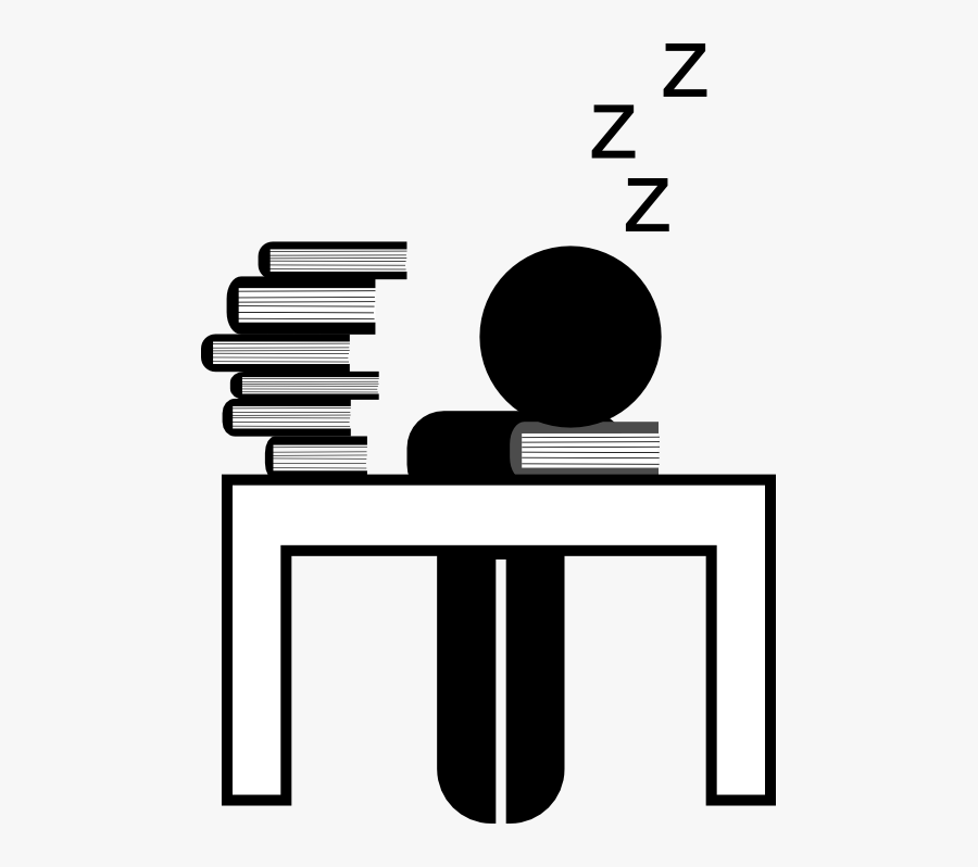 Transparent Go To Sleep Clipart - Late Night Studying Clipart, Transparent Clipart