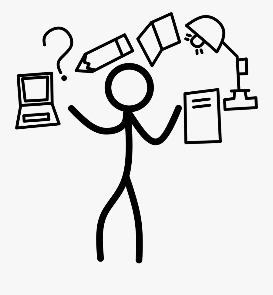 Transparent Studying Clipart - Stick Man Question Mark Png, Transparent Clipart