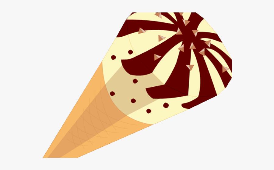 Triangle Clipart Ice Cream Cone - Ice Cream Cone, Transparent Clipart