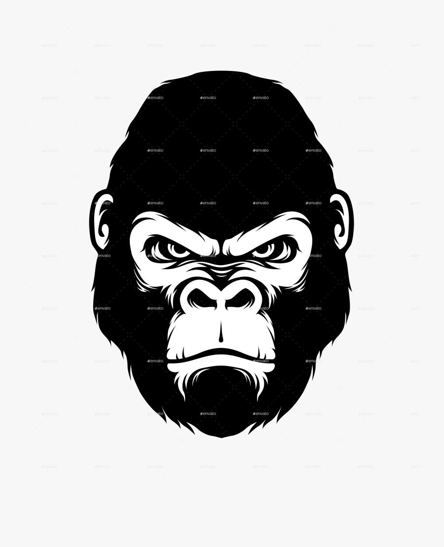 Clip Art Vector Cool For - Silverback Gorilla Head Png, Transparent Clipart