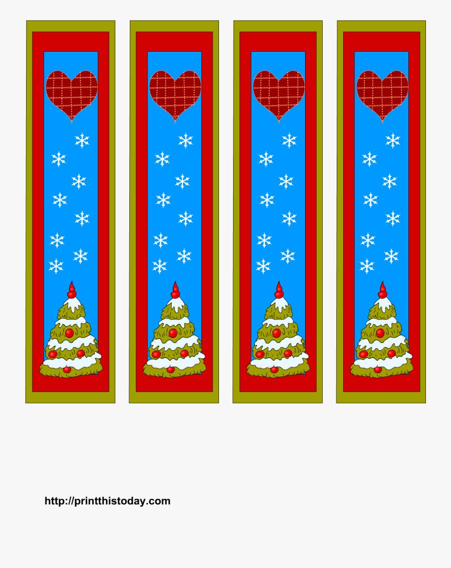 Free Printable Santa Reading A Book Clipart & Clip - Christmas Bookmark Png, Transparent Clipart