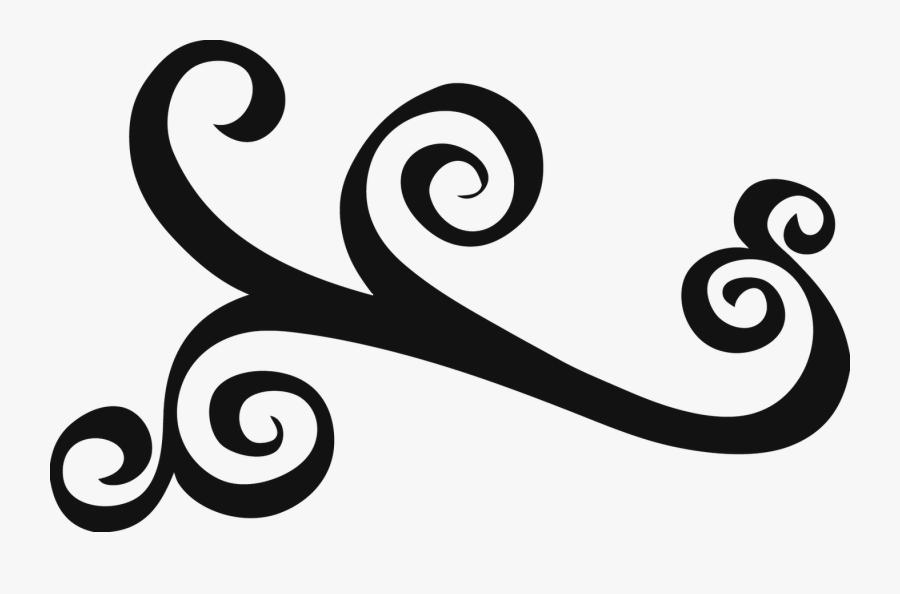 Elegant Swirl Designs Clip Art Elegant Swirls Clipart - Swirl Design Clipart, Transparent Clipart