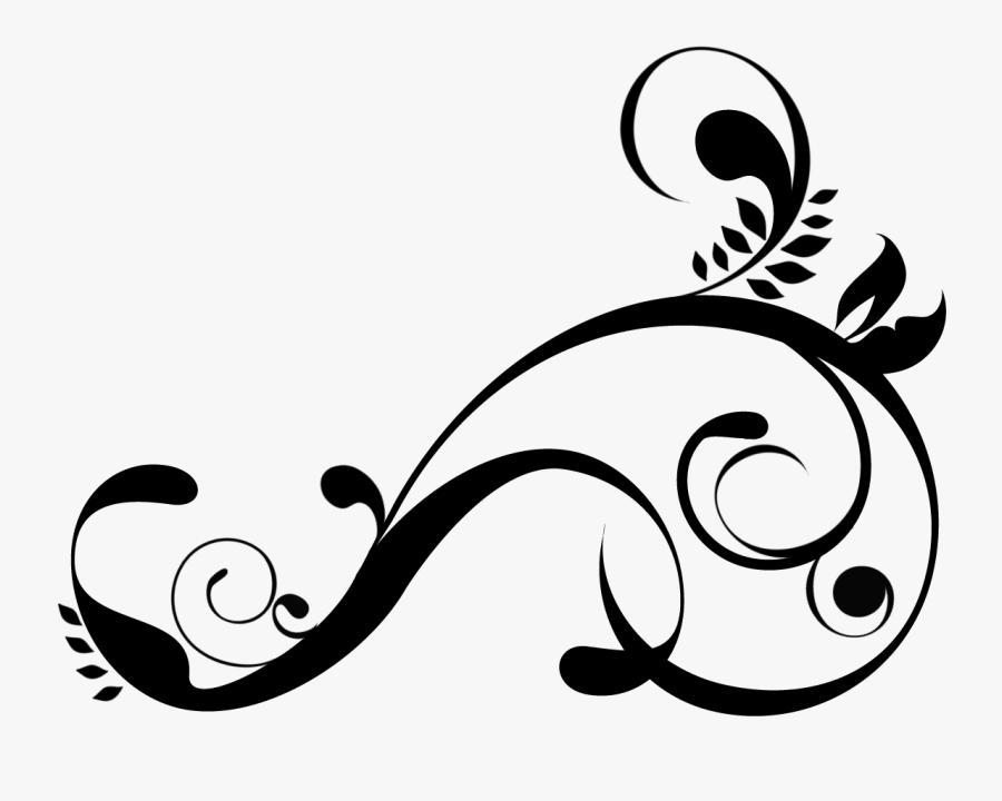 Decorative Swirls Clipart Kid - Black Swirls Png, Transparent Clipart