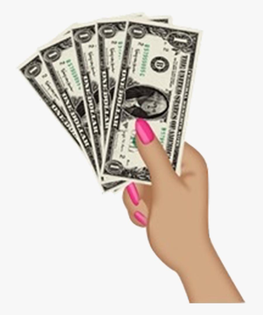 Transparent Money Stacks Clipart - Emoji Hand With Money, Transparent Clipart