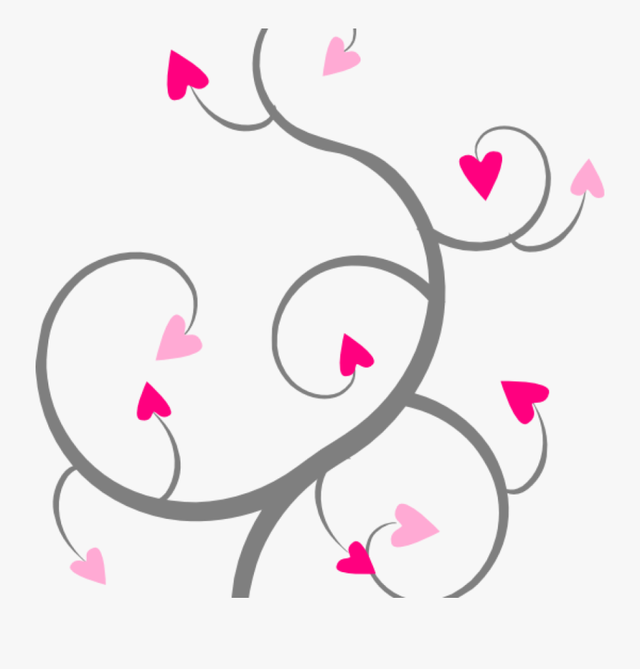 Transparent Swirl Clipart Png - Hearts Swirl Clipart, Transparent Clipart
