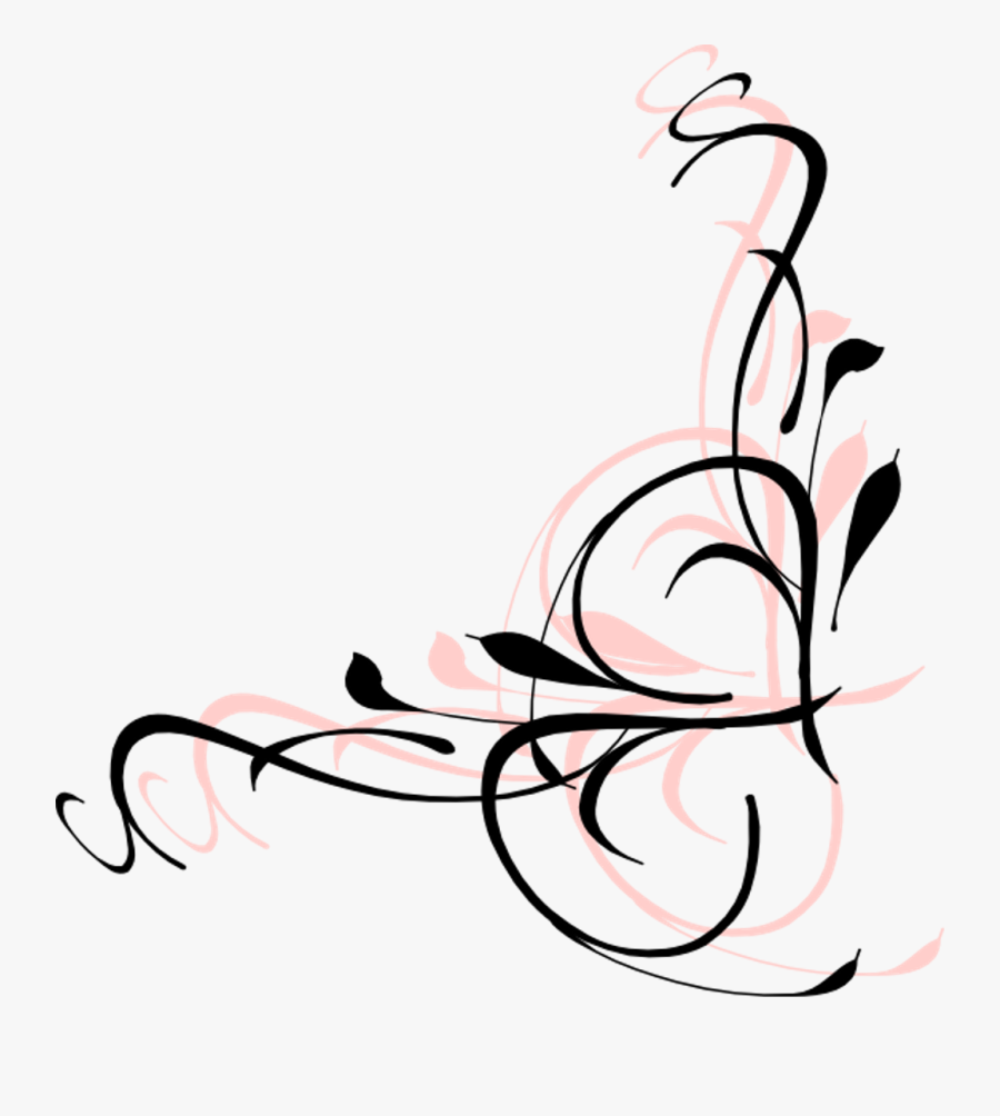 Butterfly And Swirl Clipart - Black Swirls Png - Free Transparent PNG  Clipart Images Download