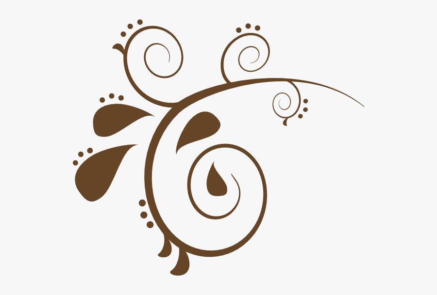 Clipart Box Swirl - Brown Swirls, Transparent Clipart