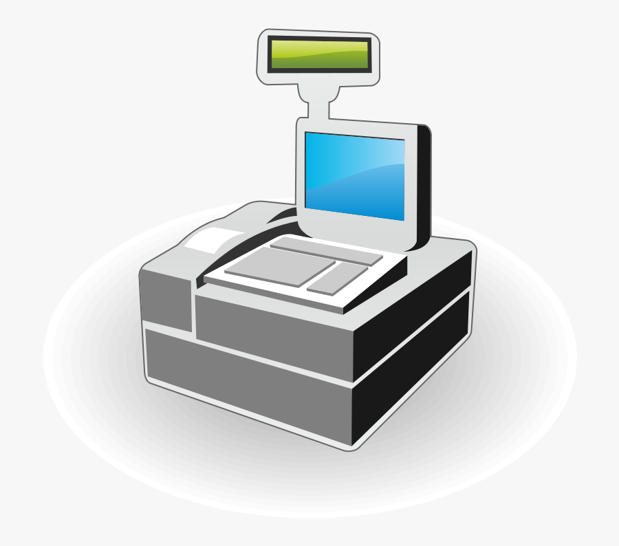 Cash Register Icon - Vector Cash Register, Transparent Clipart
