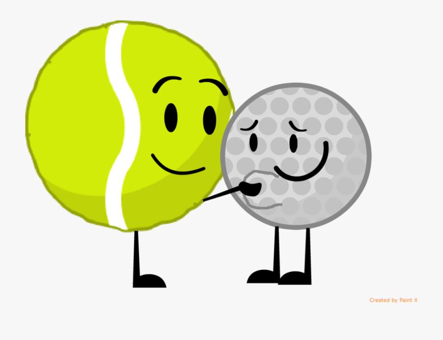 """Tennis Ball Ruping Golf Ball""""s Stomach By Thedrksiren - Bfdi Tennis Ball X Golf Ball, Transparent Clipart"""