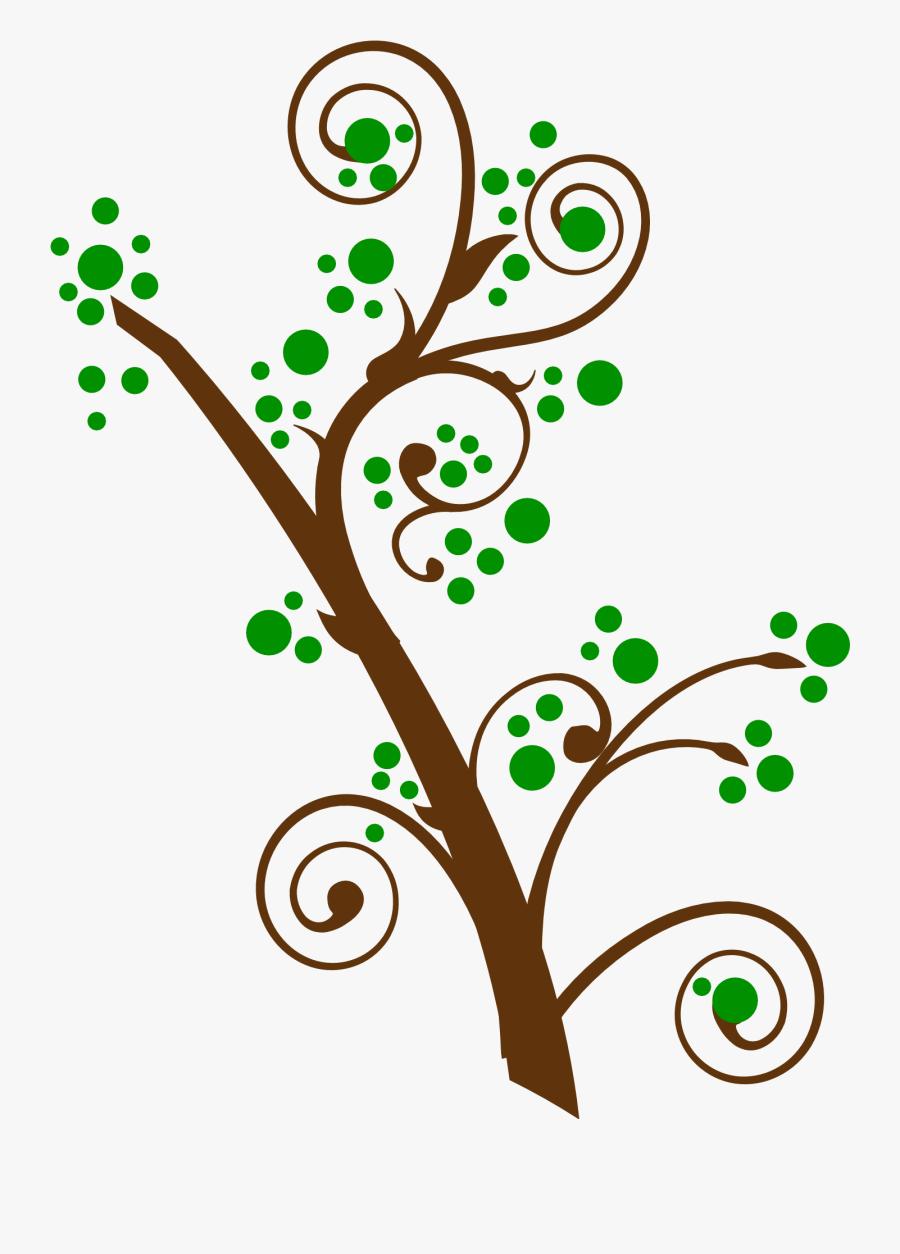 Swirls Clipart Tree - Tree Swirl Png, Transparent Clipart