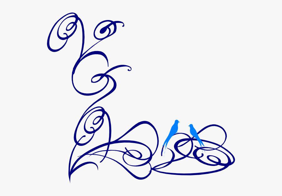 Decorative Swirl Changed Svg Clip Arts - Transparent Background Blue Swirl, Transparent Clipart