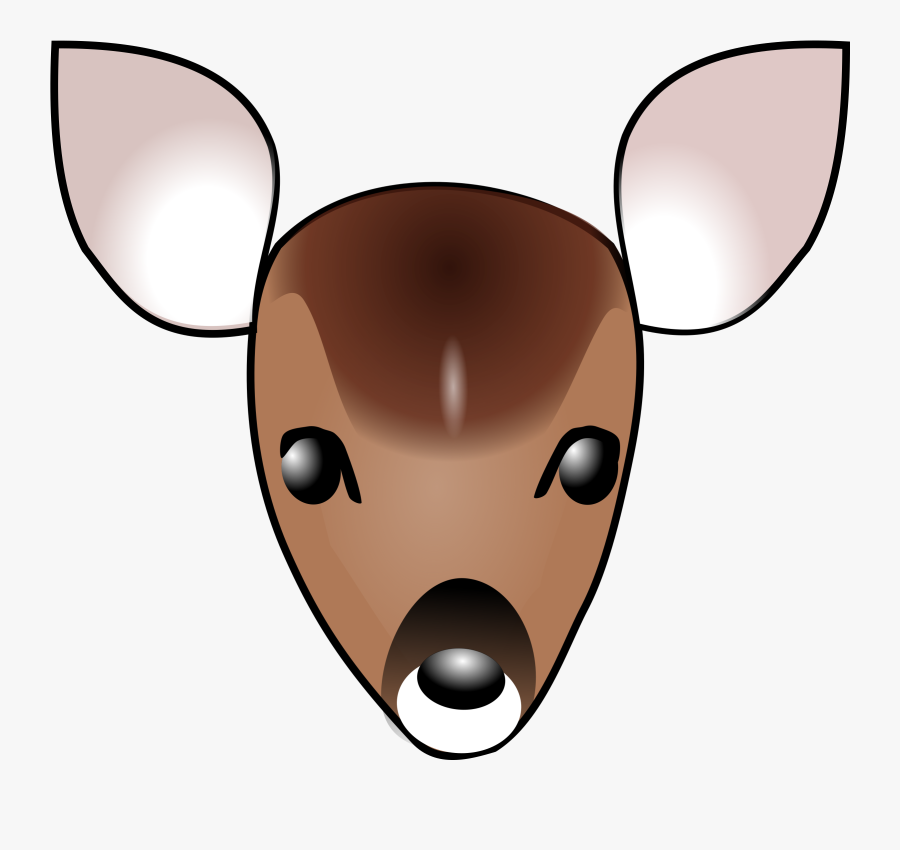 Free Vector Deer Head Clip Art - Clipart Deer Head, Transparent Clipart