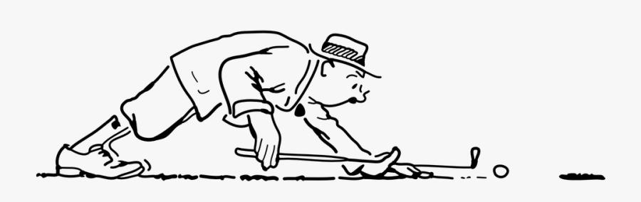 Golf, Ball, Golfer, Player, Man, Golfing, Tee, Club - Grappige Afbeeldingen Golf, Transparent Clipart