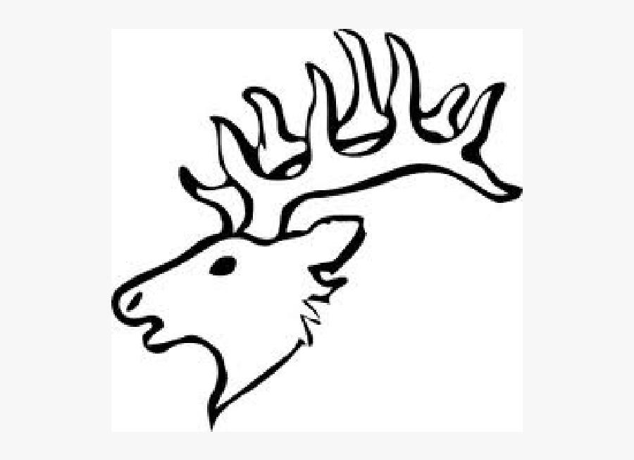 Elk Head Drawing Easy, Transparent Clipart