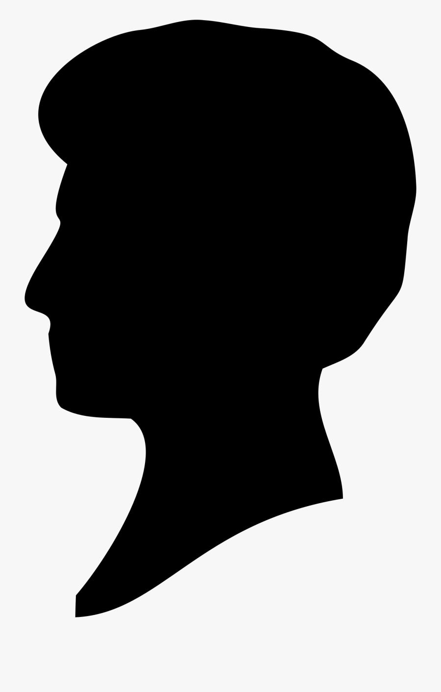 Deer Head Clipart Black And White - Barbie Ken Head Silhouette, Transparent Clipart