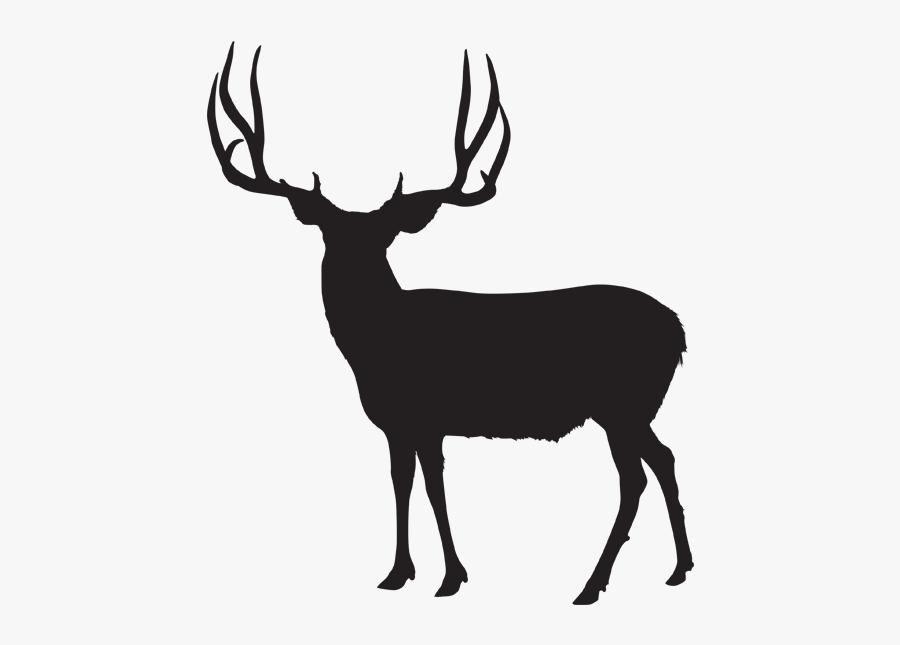 Silhouette At Getdrawings Com - Mule Deer Antler Silhouette, Transparent Clipart