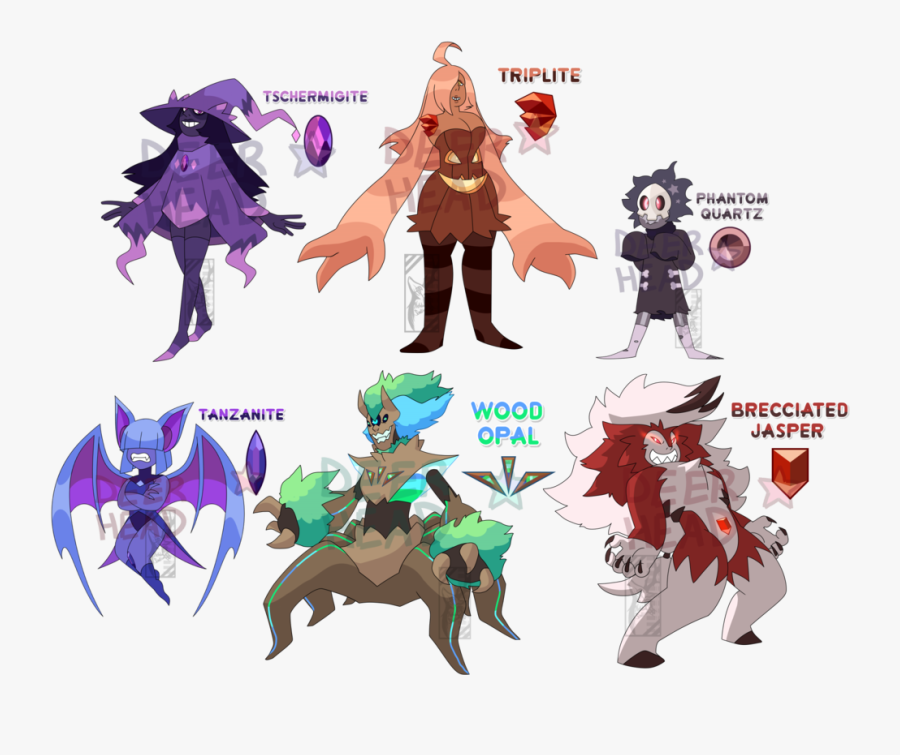 Halloween Pokemon Gem Adopt Auction By Deer-head On - Steven Universe Oc Adopts, Transparent Clipart